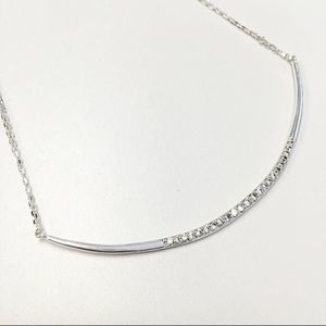 NEW STELLA & DOT CRESCENT NECKLACE IN SILVER